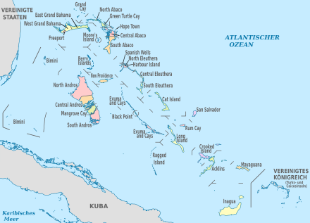 440px-Bahamas, administrative divisions - de - colored.svg